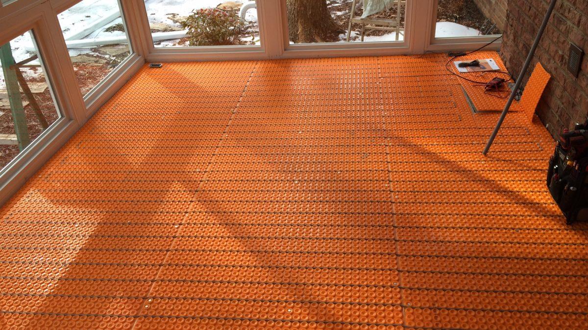 How to Install a Heated Ceramic Floor: Sub-Floor